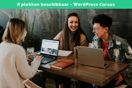 8 plekken beschikbaar WordPress Cursus